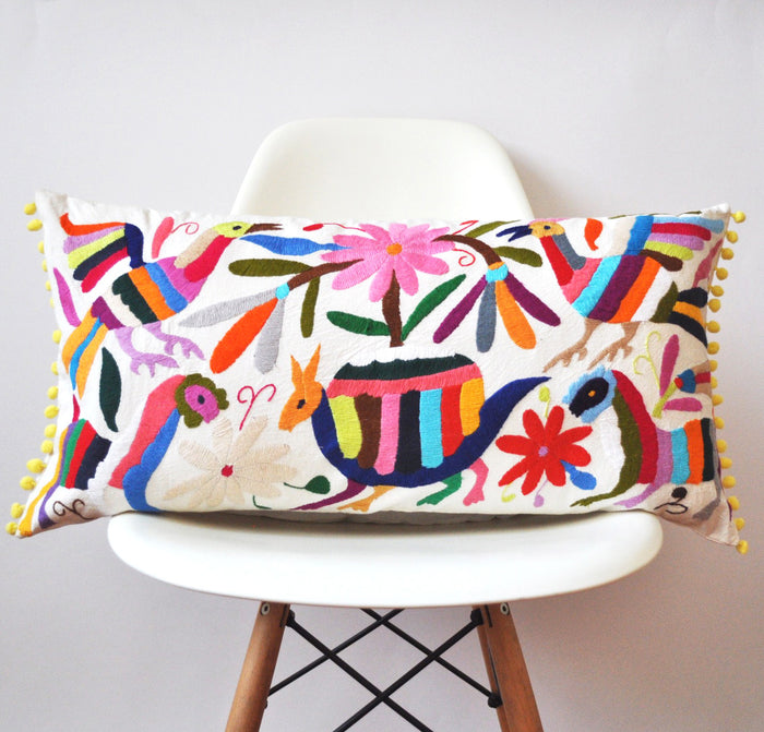 Otomi Pom Pom Pillow Cover