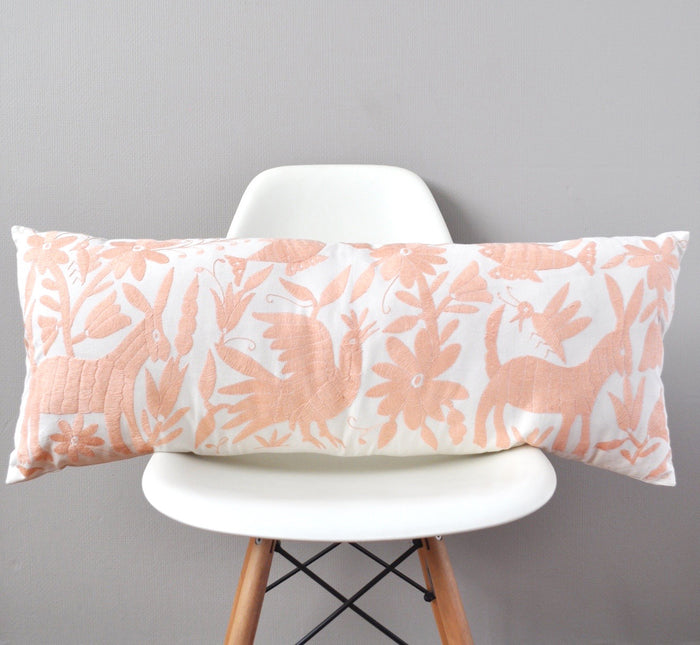 Otomi Lumbar Pillow Cover - Blush Pink