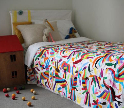 Otomi Bed Throw - Multi Colour