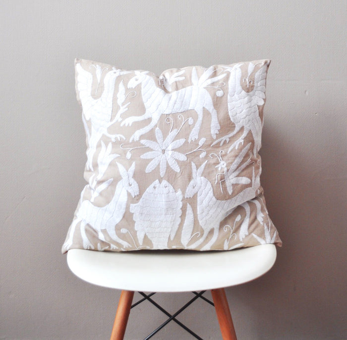 Large Otomi Linen Pillow