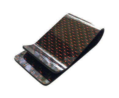 Rosso 'Superleggera' Carbon Fiber Money Clip
