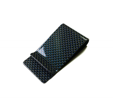 'Blu Luminoso' Carbon Fiber Money Clip