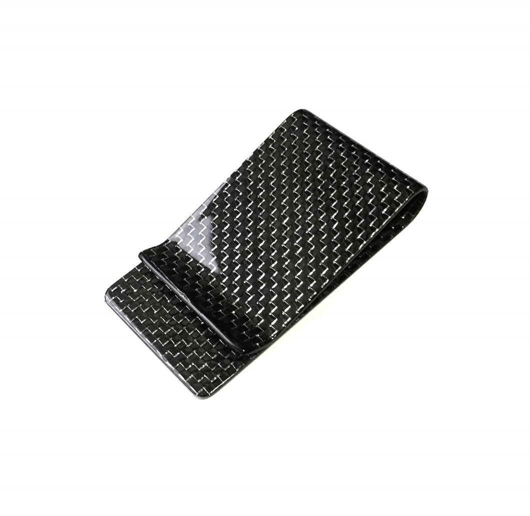 Platinum Carbon Fiber Money Clip