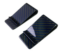 """Blu"" Blue Carbon Fiber Money Clip"