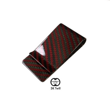 """Rosso"" Red Carbon Fiber Money Clip"