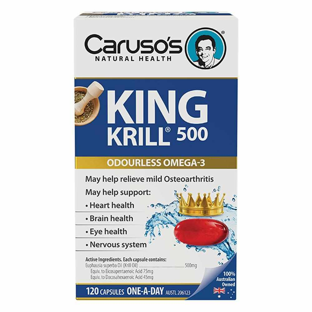 Caruso's King Krill 500mg Odourless Capsules