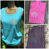 Comfort Color Tank Lagoon Blue