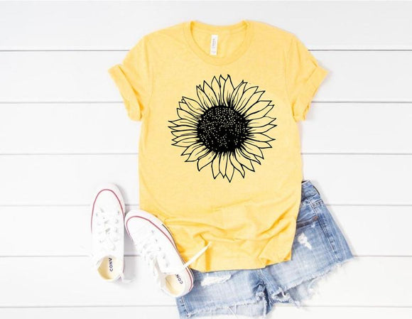 Bella Canvas Sunflower Shirt