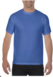 Comfort Color T-shirt Mystic Blue No Pocket