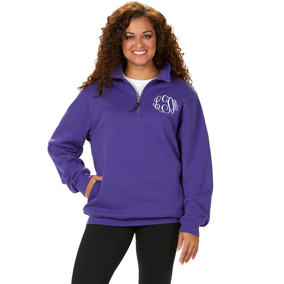 Charles River 1/4 Zip Pullover - Purple