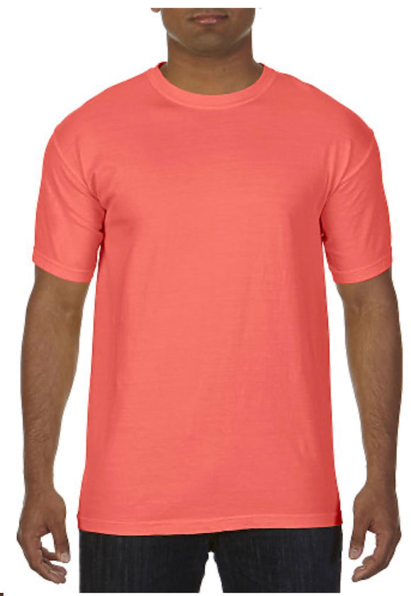 Comfort Color T-shirt Bright Salmon No Pocket