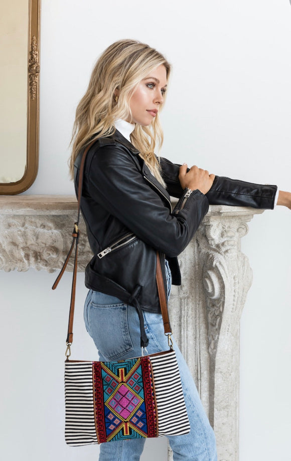 Felicity Aztec Embroidery Crossbody