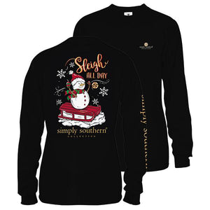 Simply Southern Sleigh All Day LS tshirt