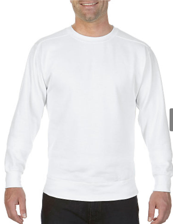 Comfort Color Long Sleeve Pocket Tee-White