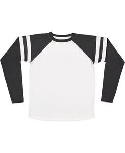 Football Long Sleeve Tee Light Grey S