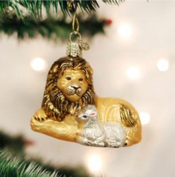 Ornament Lion and Lamb