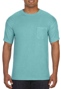 Comfort Color Pocket Tees-Chalky Mint