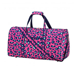 Black Friday Pink Leopard Duffle Bag