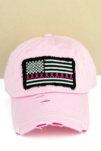 Breast Cancer Flag hat
