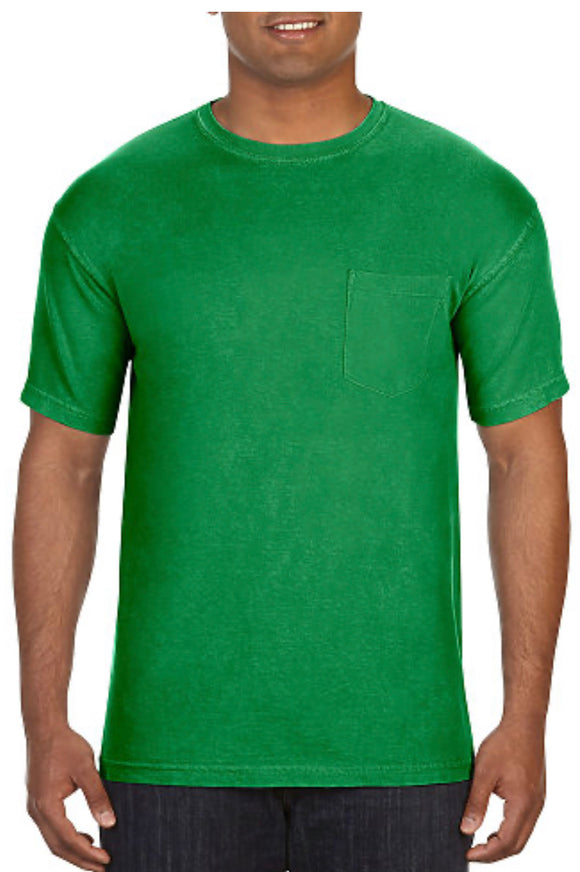 Comfort Color Pocket Tees-Clover