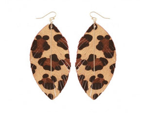 Black Friday Leopard Earrings