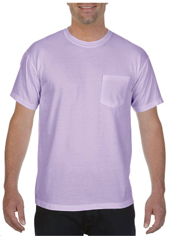 Comfort Color Pocket Tees-Orchid