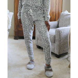 Grey Leopard Lounge Pants