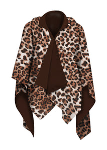 RainCape-Leopard Brown