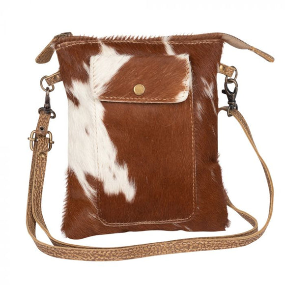 Leather Lithe Hair On Small Bag
