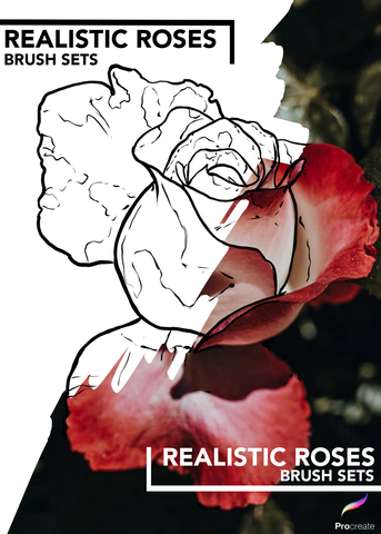 Realistic Roses - PROCREATE BRUSH SET for iPad