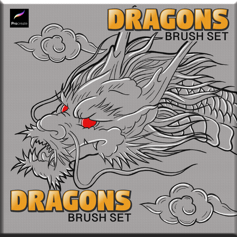 Dragons - PROCREATE BRUSH SET for iPad