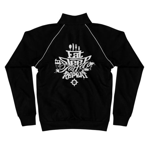 Eat Sleep Tattoo - Piped Fleece Jacket