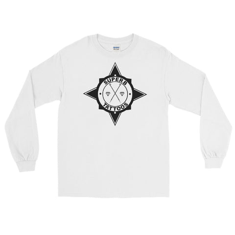 Black Superb Tattoos Badge - Men's Long Sleeve Shirt