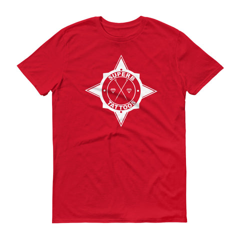 White Superb Tattoos Badge - T-Shirt