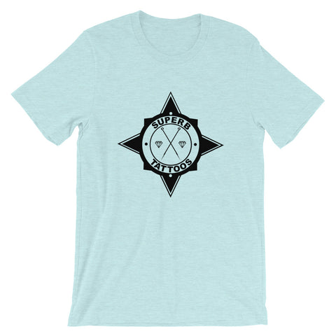 Black Superb Tattoos Badge - Short-Sleeve Unisex T-Shirt