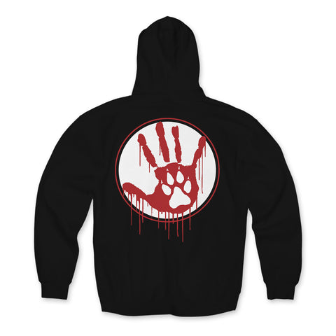 "Wolfpac ""Bloody Mess"" Hoodie Back Print Only"