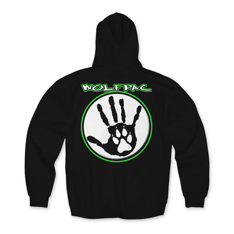 "Wolfpac ""Green Glow"" Hoodie Back Print Only"