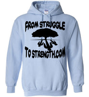 From Struggle To Strength Light Blue Deep Roots Hoodie