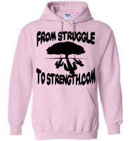 From Struggle To Strength Pink Deep Roots Hoodie