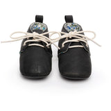 Pre-Walking PU Suede Leather Oxford Slippers, , Baby Terry, Baby Terry