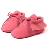 Pre-Walking PU Suede Leather Fringe Moccasin Slippers, , Baby Terry, Baby Terry