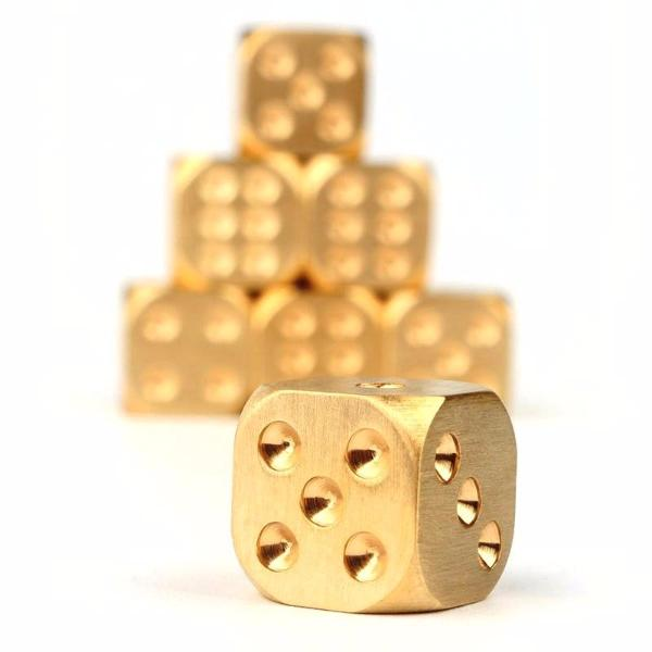 Single Brass Dice