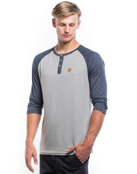 Standard Henley Lunar Rock/Outer Space 3/4 Sleeve - Men's - The Offroader