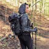 Women's Black Camo Athletic Zip-Up Hoodie - The Offroader