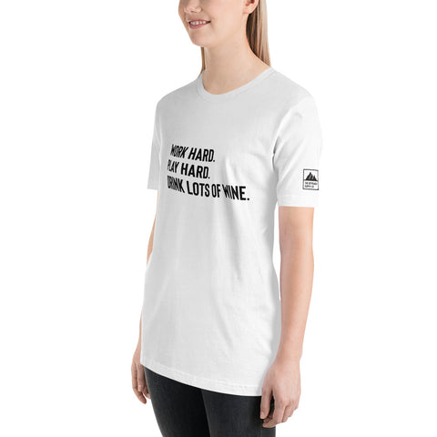 Work Hard. Play Hard. Drink Lots of Wine Tee - The Offroader