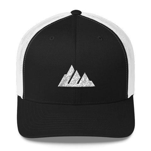 The Offroader Supply Co.™ Classic Mountain Topo Trucker Hat - The Offroader