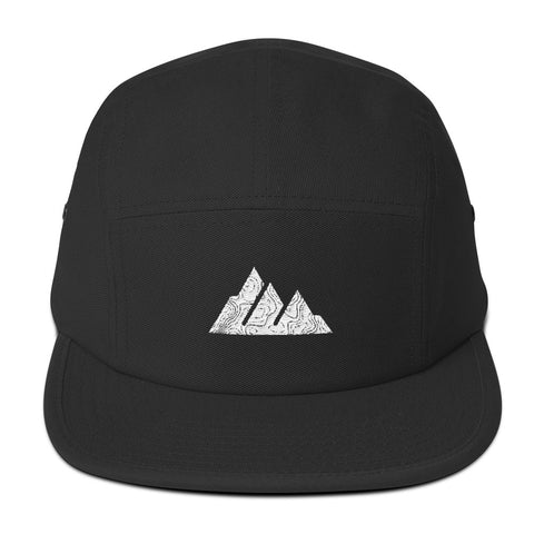 The Offroader Supply Co.™ Classic Mountain Topo Five Panel Hat - The Offroader