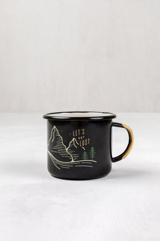 Let's Get Lost Enamel Steel Coffee Mug - The Offroader