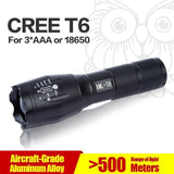 CREE XM-L T6 Led Flashlight LED Torch Zoomable Waterproof Tactical Flashlight - The Offroader