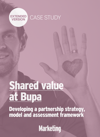 Developing Bupa's shared value partnership strategy